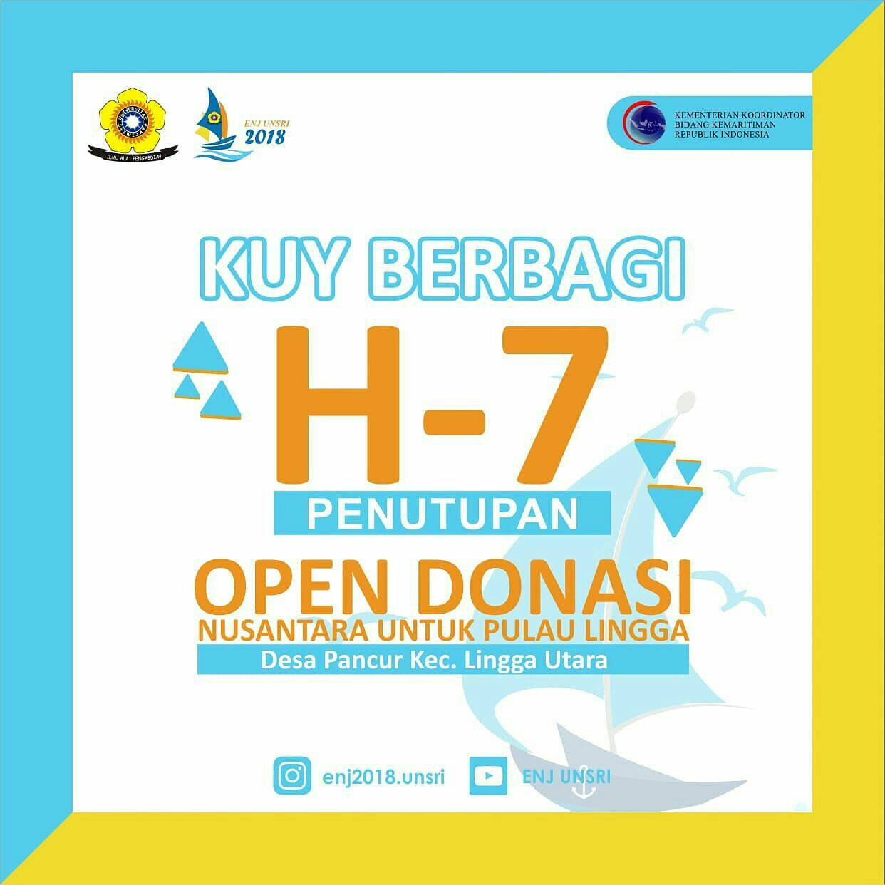 Info Donasi Ekspedisi Nusantara Jaya Unsri 2018 ke Pulau Lingga, Kepri