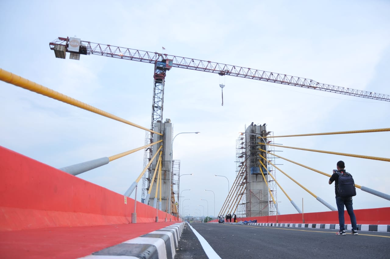 Jembatan Musi IV Masuki Tahap Uji Beban