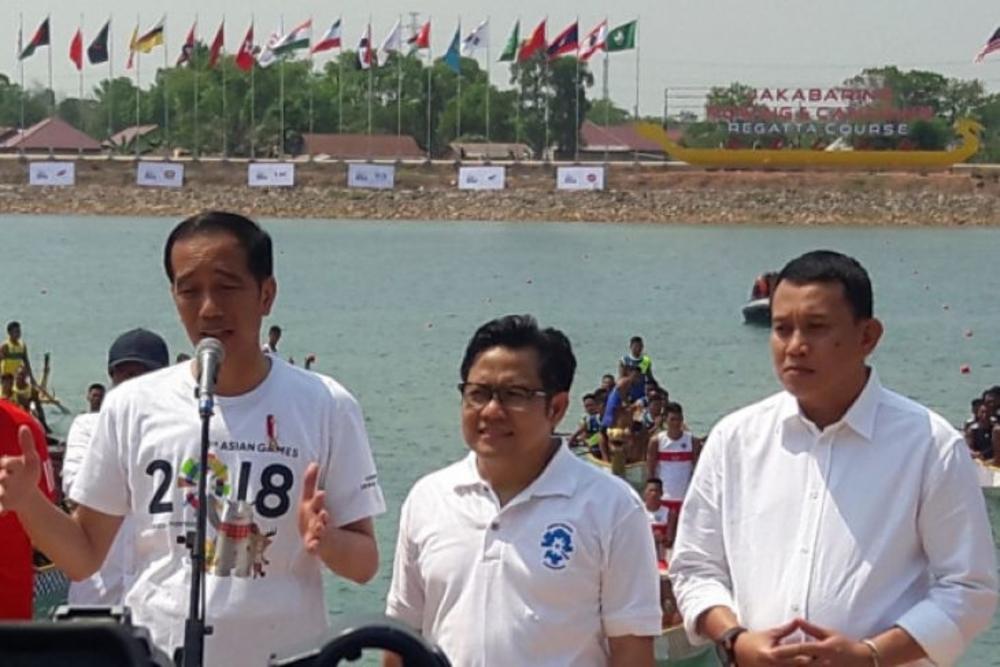 Jokowi Mendayuh di Jakabaring