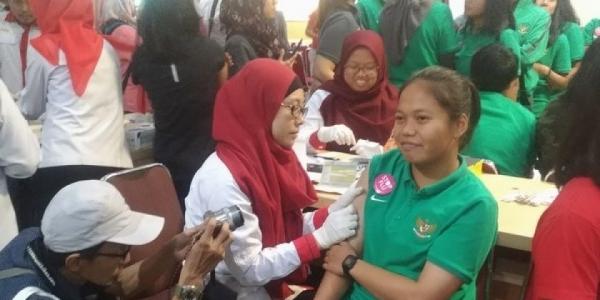 Cegah Penyakit Menuju Asian Games 2018, Atlet Diberi Vaksin Influenza!
