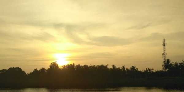 Diiringi 'Gerhana Bulan Merah', Wisata Air di Taman Kerajaan  Sriwijaya Diresmikan