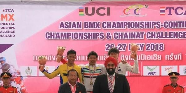 Keren! Rio Akbar Sabet Emas Asia BMX 2018