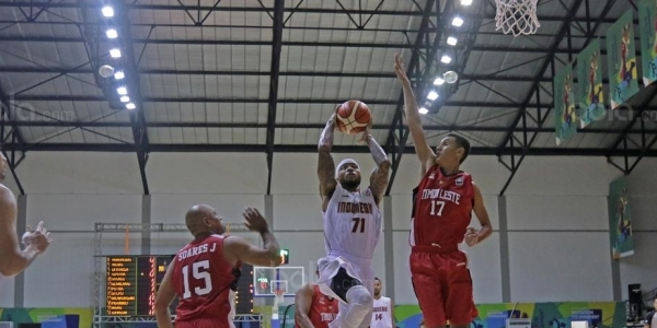 Wow, Laga Perdana Test Event Basketball Asian Games 2018 Indonesia Menang !