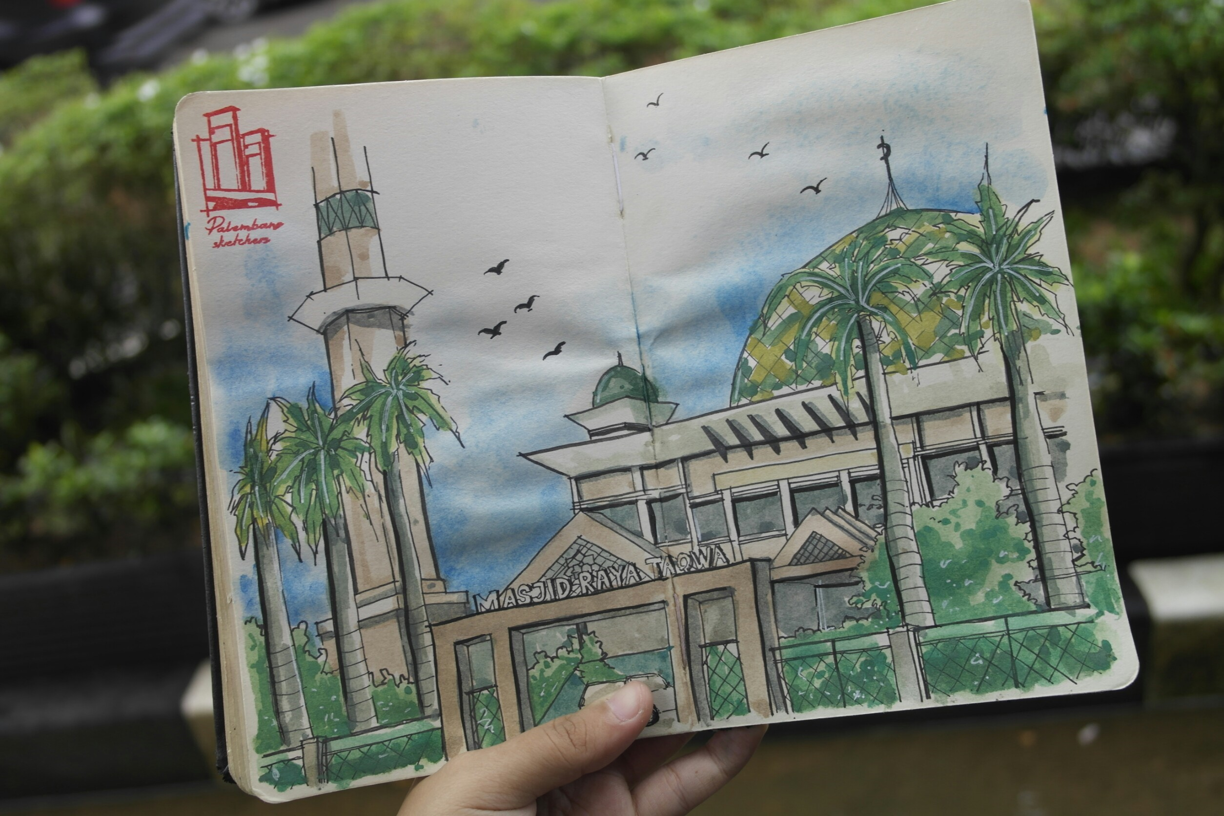 Palembang Sketchers, Mengemas Palembang dalam Sketsa Urban