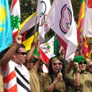 2.018 Orang Ramaikan Parade 100 Hari Menuju Asian Games