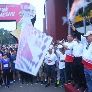 Gelar Fun Run, Palembang Tak Lupa Sosialisasikan Venue Asian Games 2018
