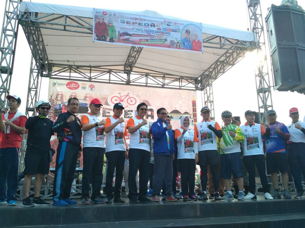 Wah! Sepeda Nusantara Hadir di Kota Palembang